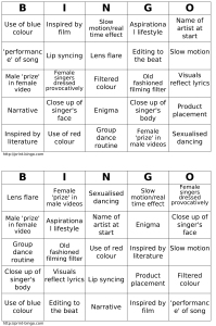 Custom Bingo cards generated at http://print-bingo.com.  Basic u